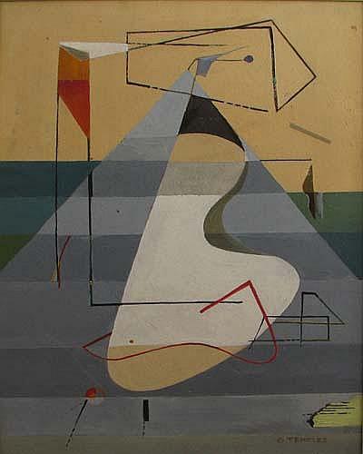 Gertrude Temeles Biomorphic Figure Painting