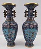 Pair of Chinese Cloisonné Vases