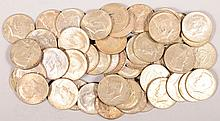 $25 Face 1965-1969 40% Kennedy Halves 50 pcs