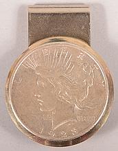 1923 Peace Dollar Money Clip