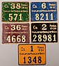Lot of (5) PA tin plate resident hunting license tags: 1930 through 1934. Condition: poor to very good.