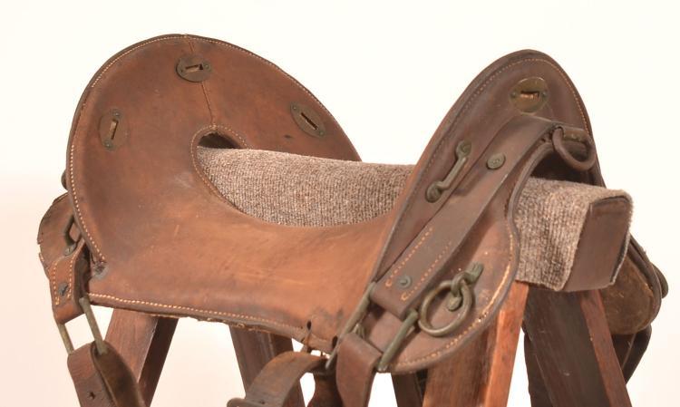 McClellan saddle having a 12 inch seat