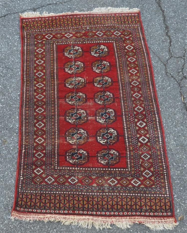 Vintage Medallion Pattern Oriental Area Rug
