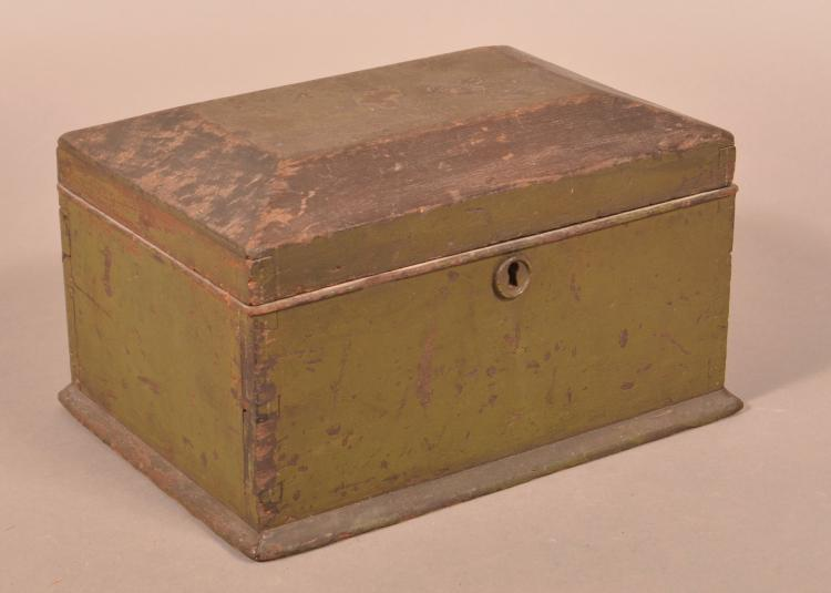 Pennsylvania 19th century softwood lock box Home furniture design clifton heights pa