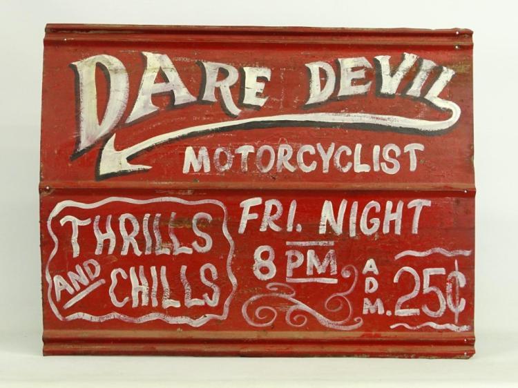 Dare Devil Motorcycle Sign