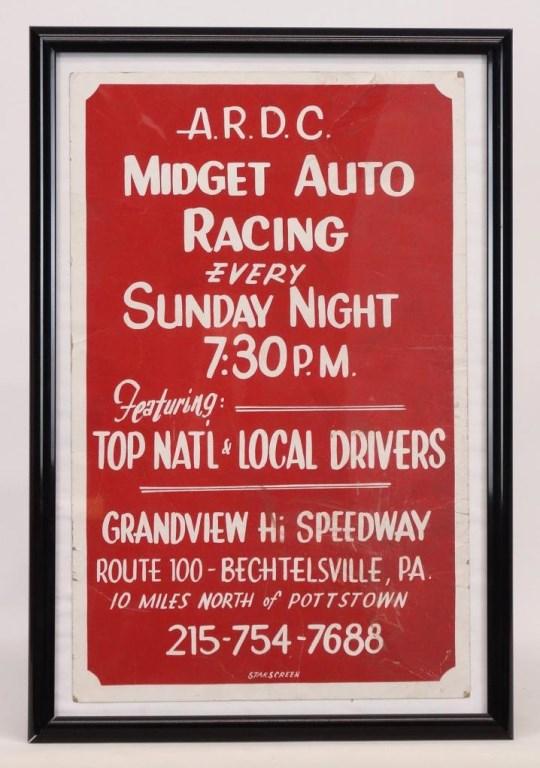 ARDC Midget Auto Racing Poster
