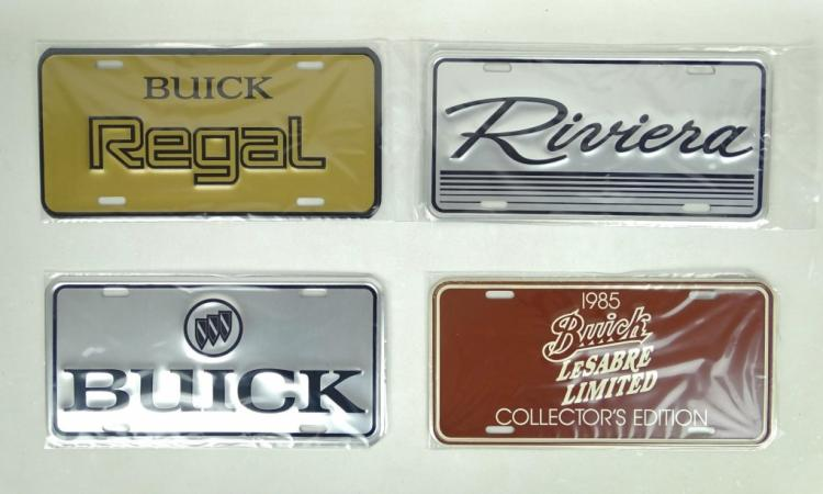 Buick Show Room Display License Plates Lot