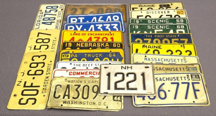 1925-1962 Miscellaneous License Plate Lot