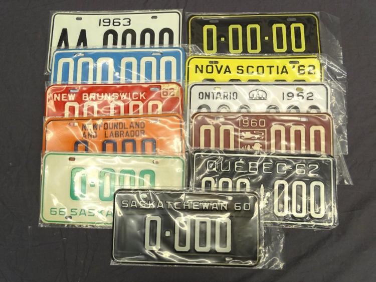 Canadian Sample License Plate Lot
