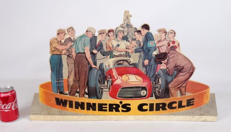 Cardboard Winners Circle Counter Top Display