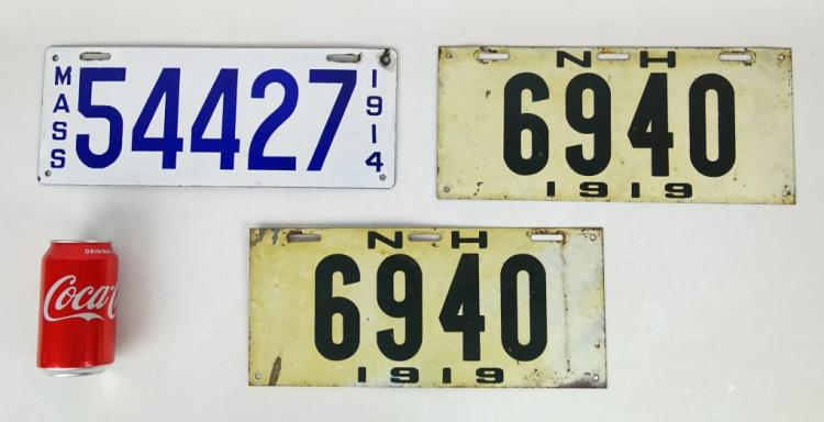 Antique Licence Plate Lot