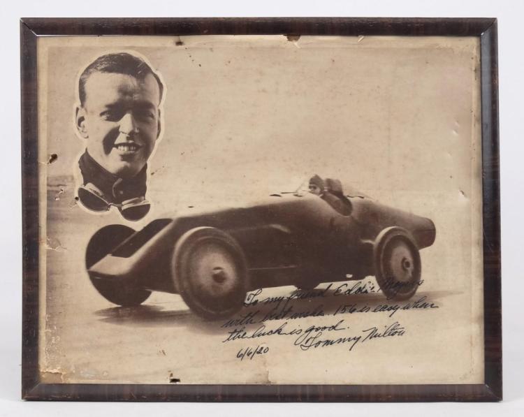 1920's Tommy Milton Autographed Photograph