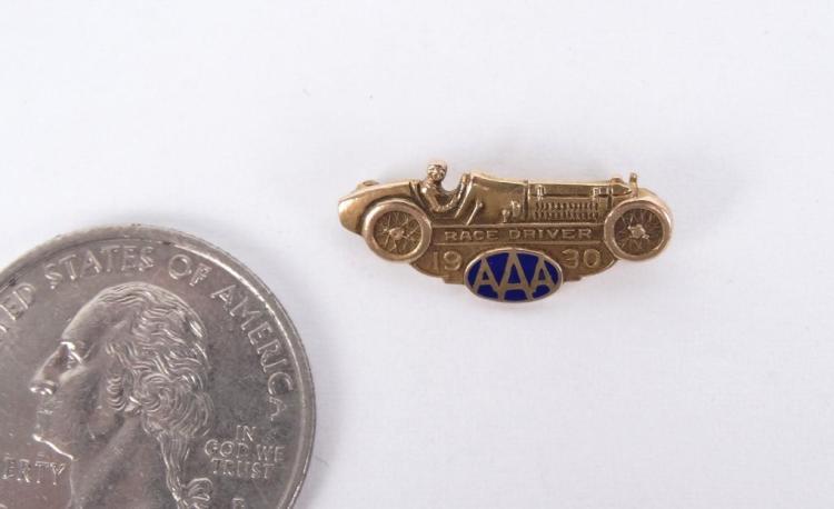 AAA Race Car Driver Pin