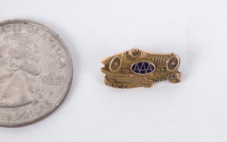 1932 AAA Race Car Driver Badge