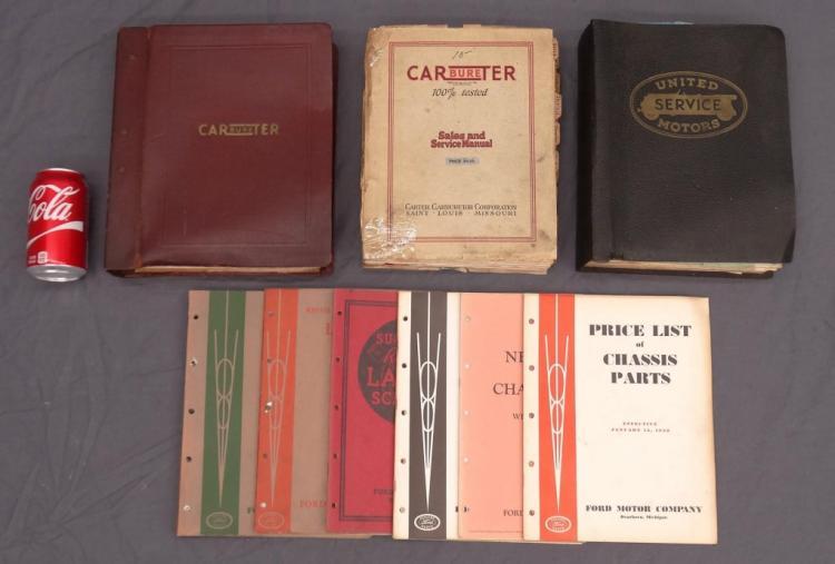 Antique Automotive Manual Lot