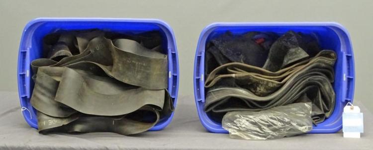 Antique Vehicle Tire Tube Flaps and Tire Tube Lot
