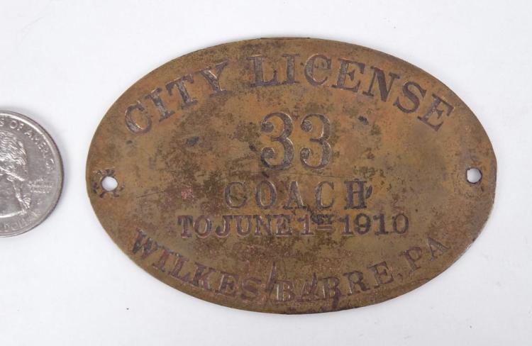 1910 Coach License
