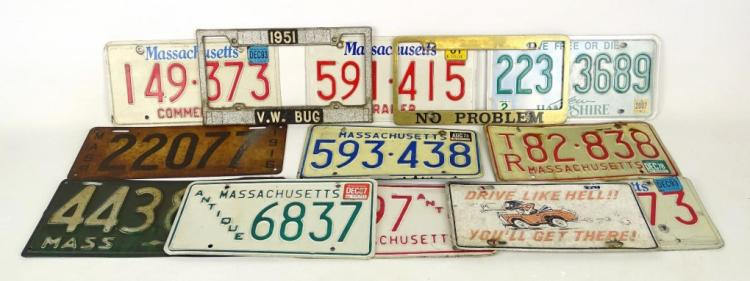 1916-2007 License Plate Lot