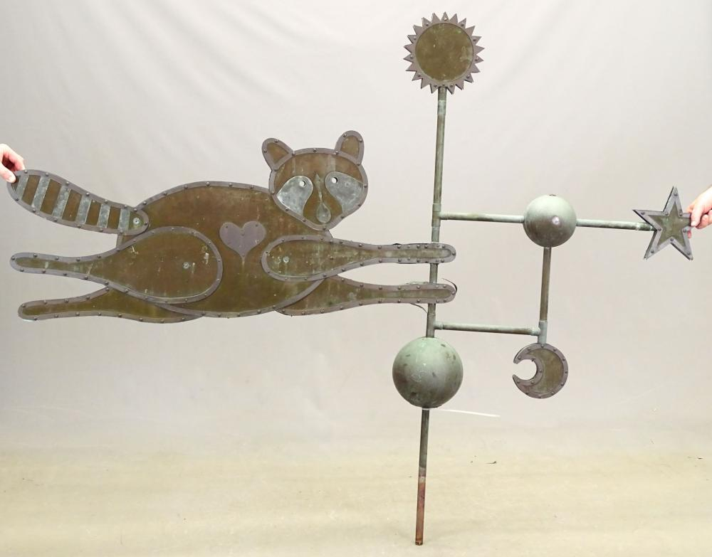 Raccoon Weathervane