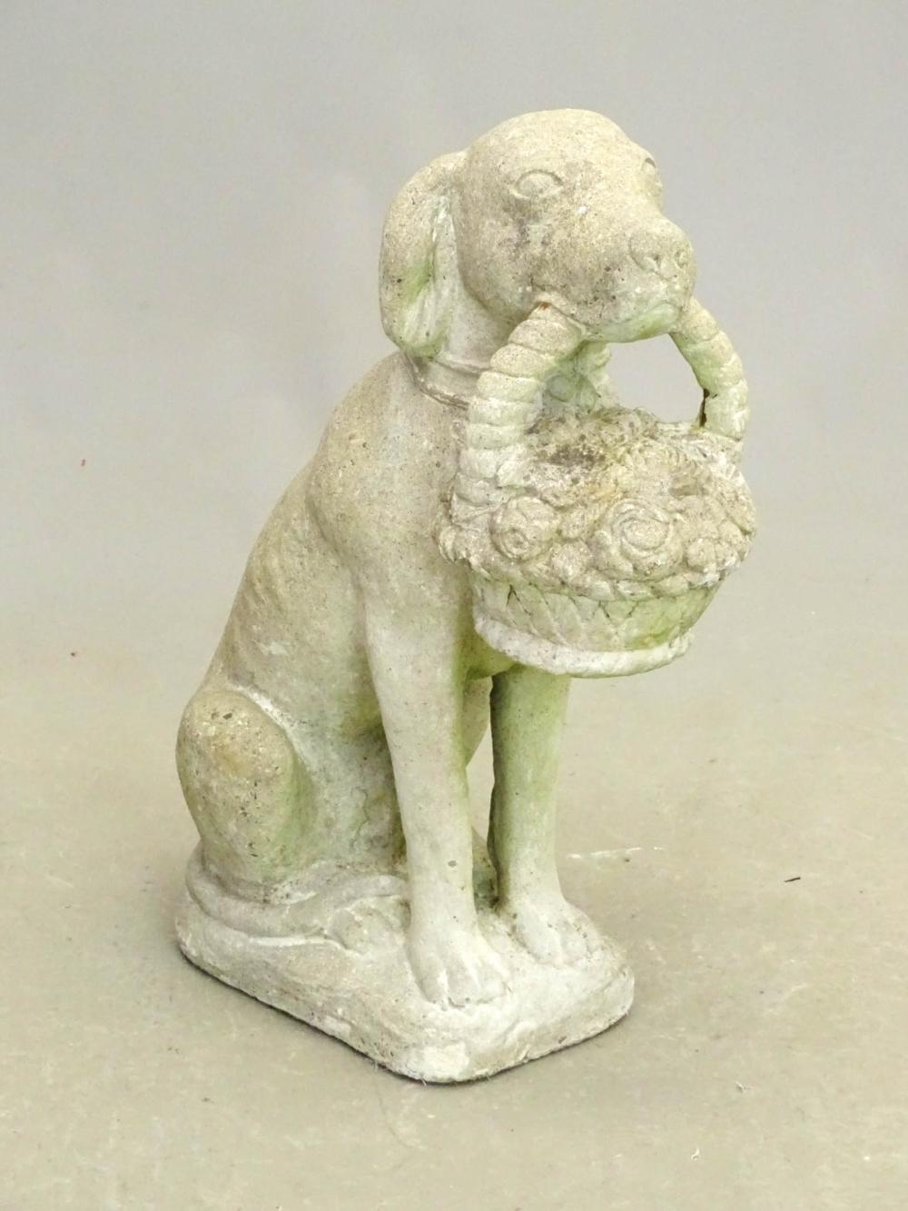 Poured Stone Dog