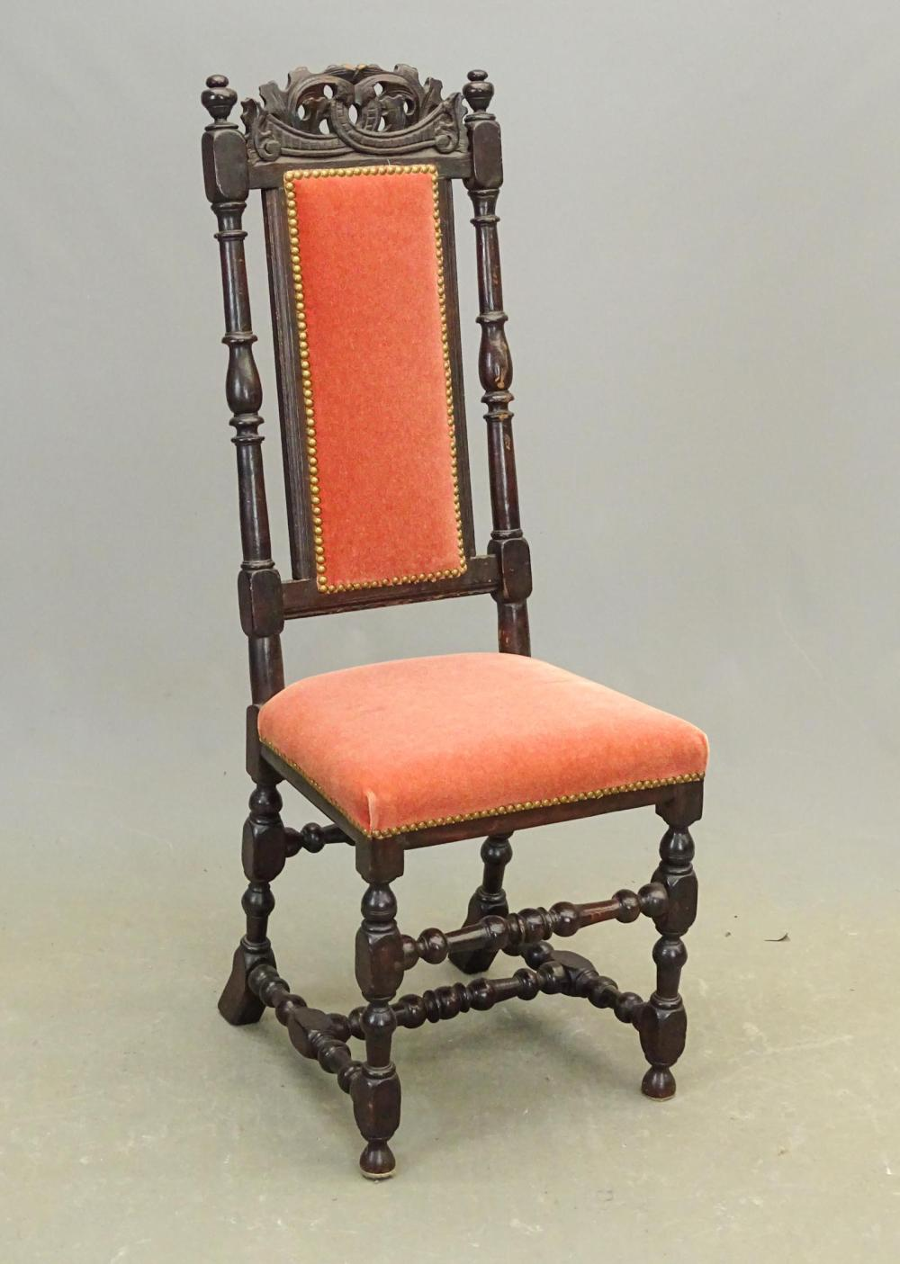 17th c. Walnut Side Chair