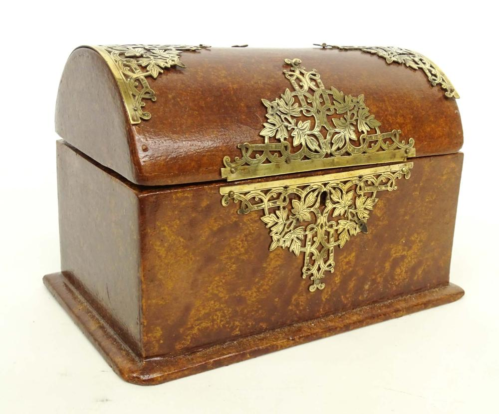 19th c. Dometop Tea Caddy