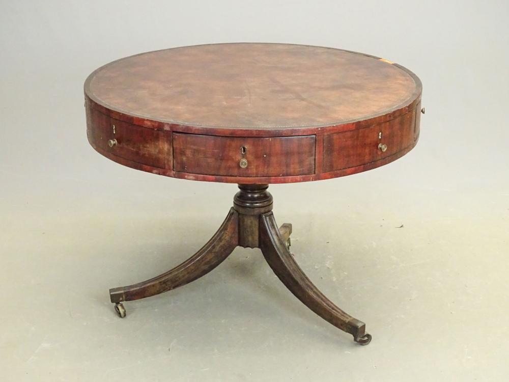 Early 19th c. Drum Table