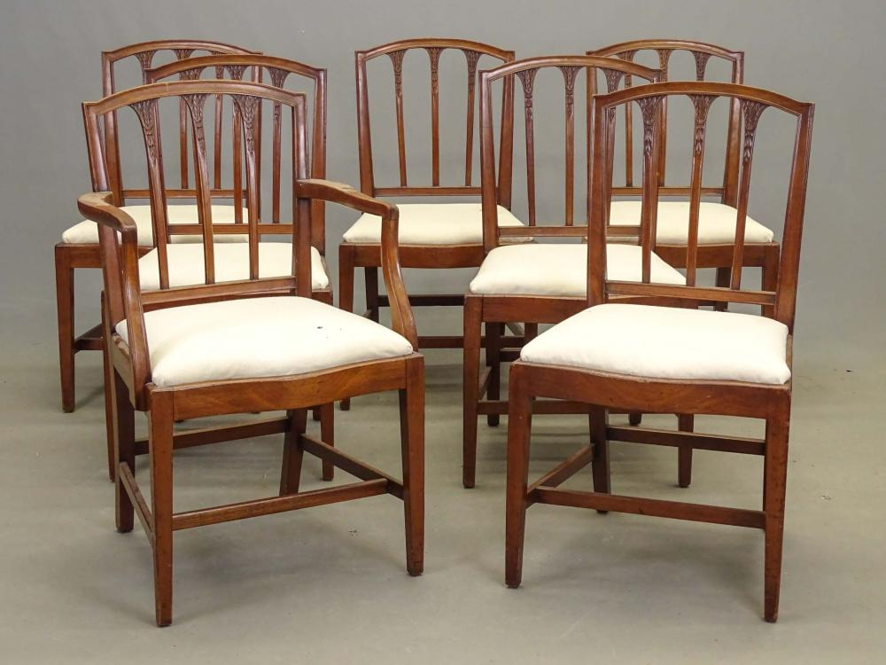 Set of 19th c. Salem Mass. Hepplewhite Chairs