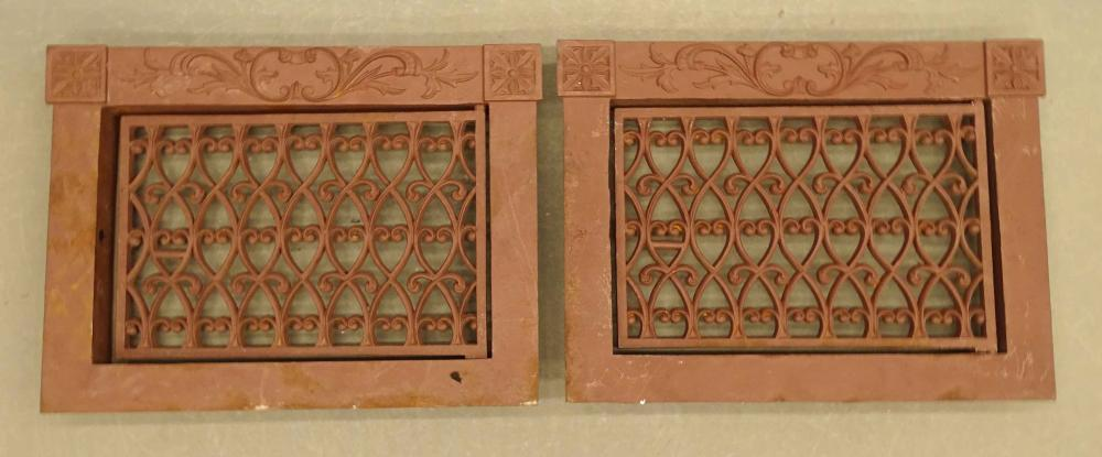 Pair Cast Iron Window Grates