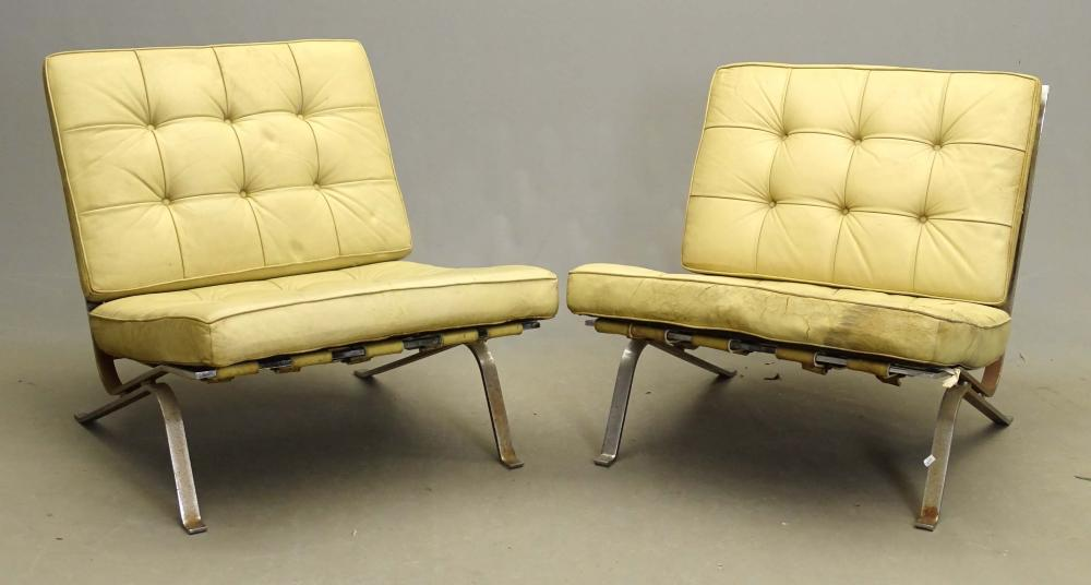 Pair Barcelona Style Chairs