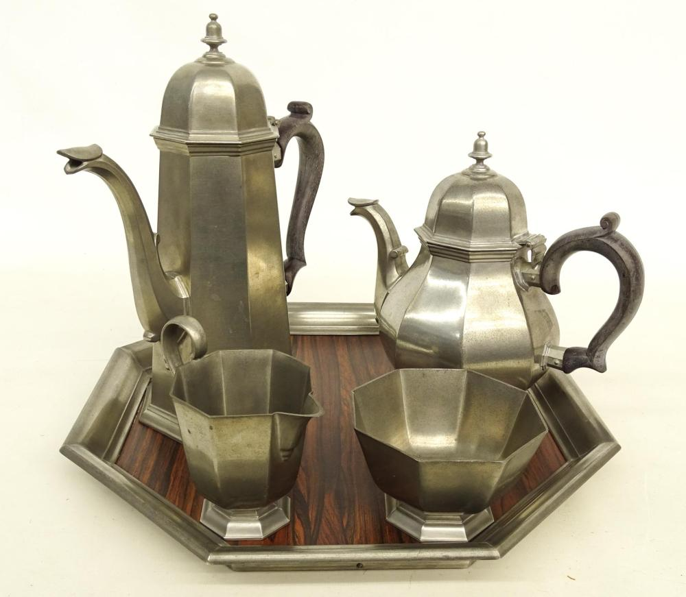 Gorham Pewter Tea Set