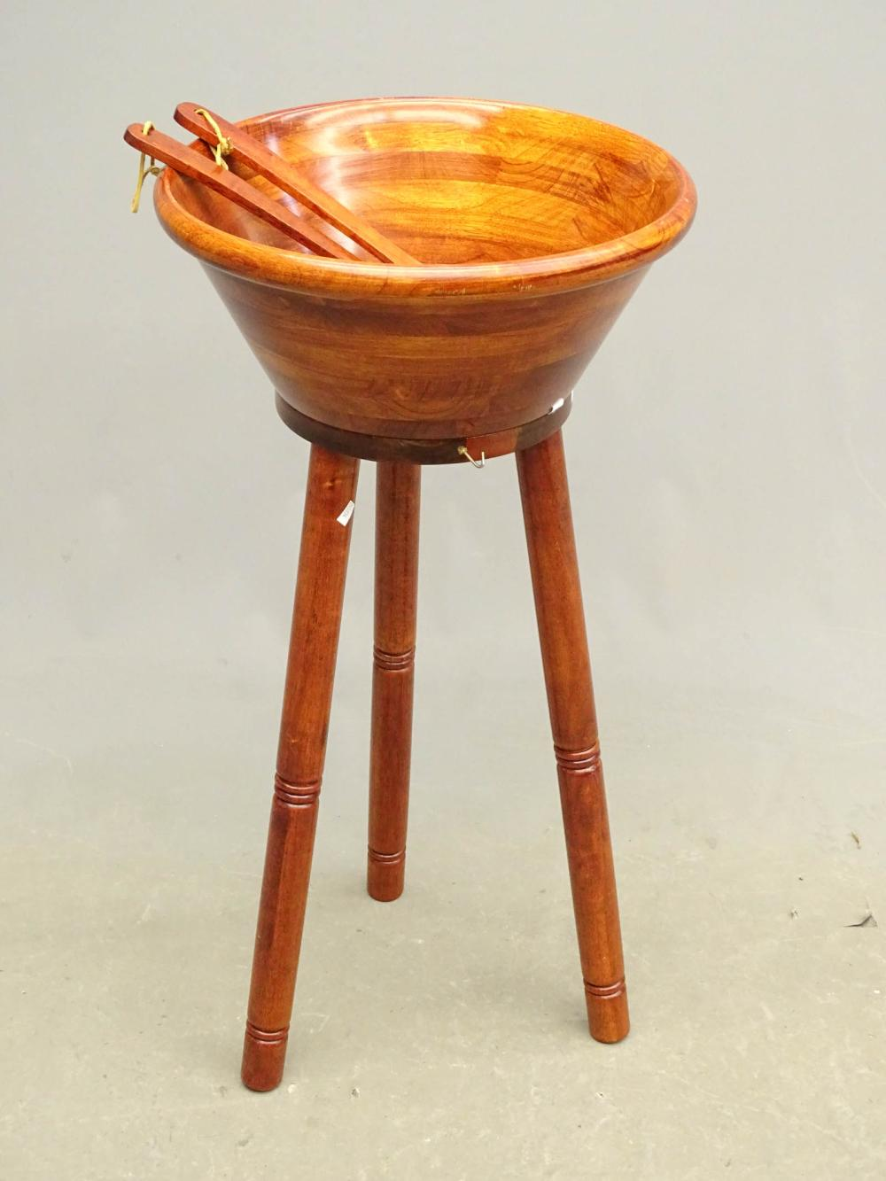 Wooden Bowl on Stand