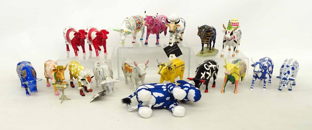 Collection of Porcelain & Misc. Cow Figurines