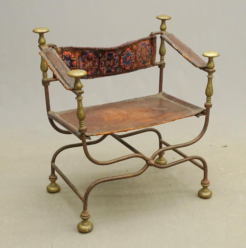 19th c. Italian Savonarola Chair