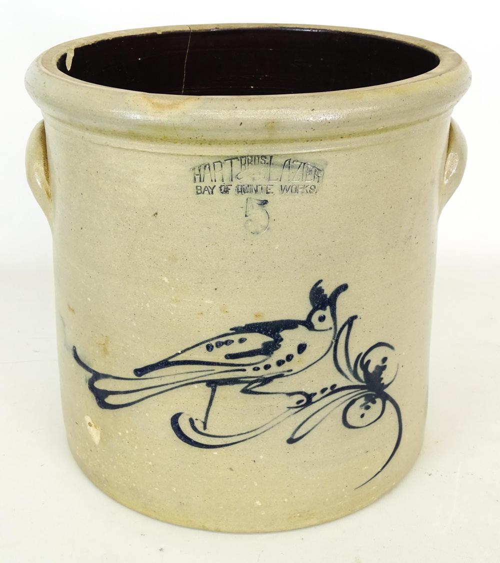 19th c. Decorated Crock