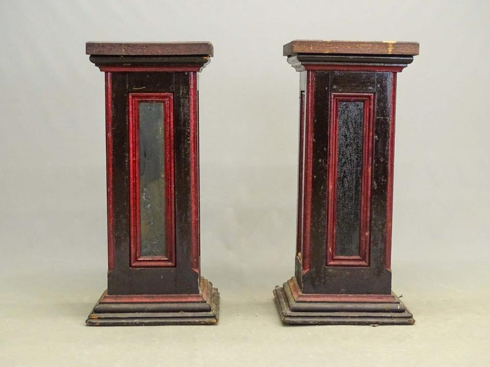 Pair Painted Pedestals
