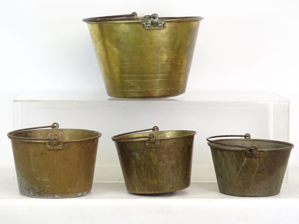 19th c. Brass Buckets