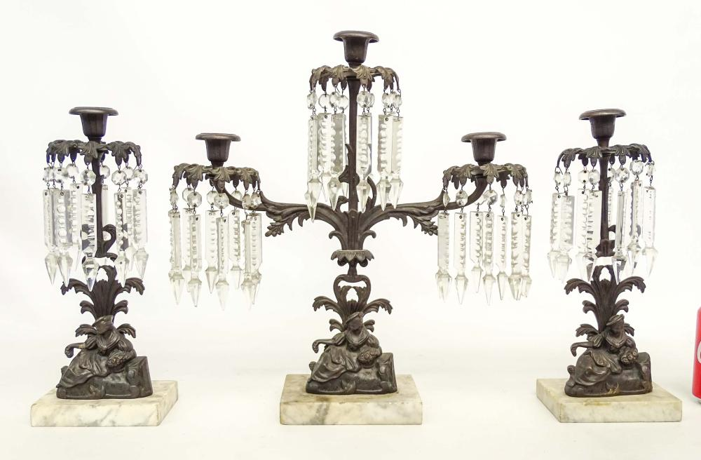 19th c. Girandole Set