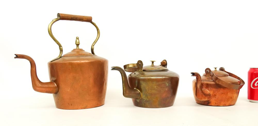 19th c. Copper Kettles