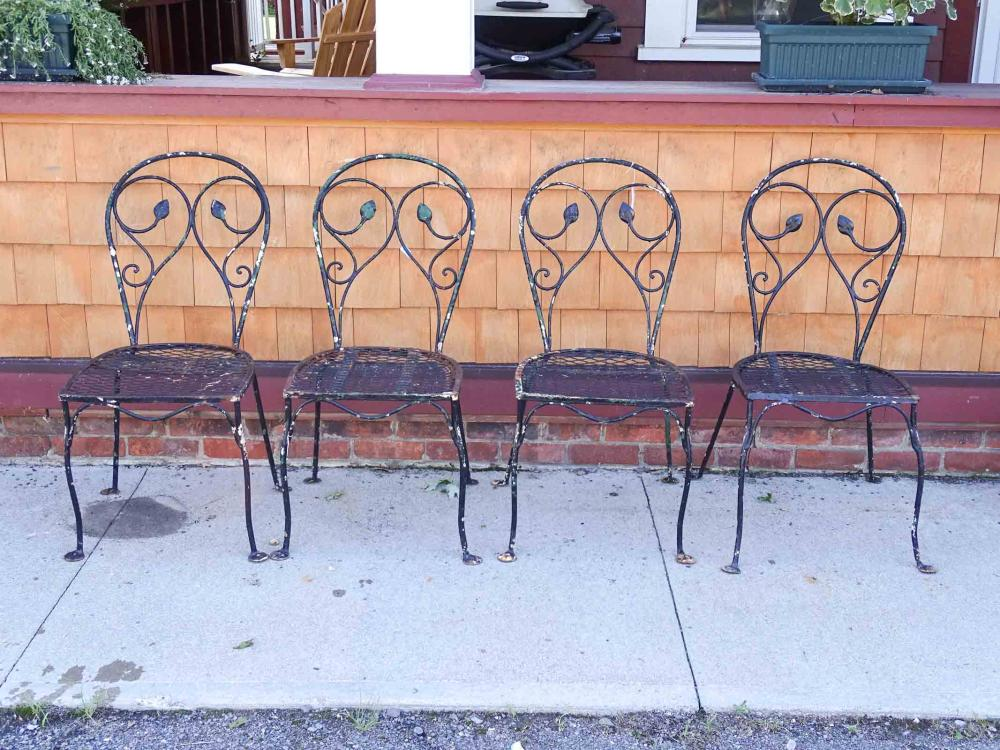 Set of Wrought Iron Chairs