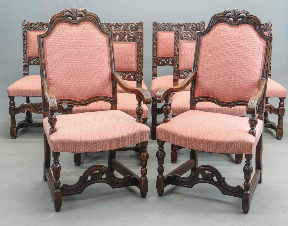 Set of Jacobean Style Chairs