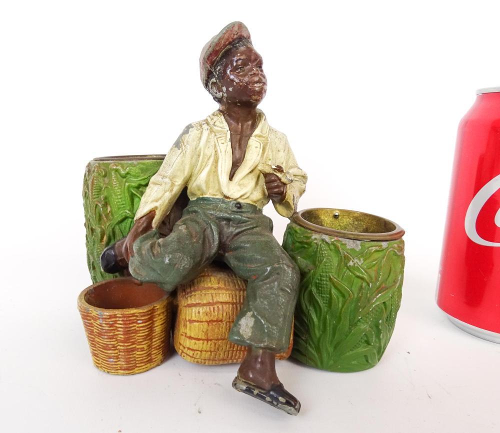 Spelter Metal Figural Cigar Holder