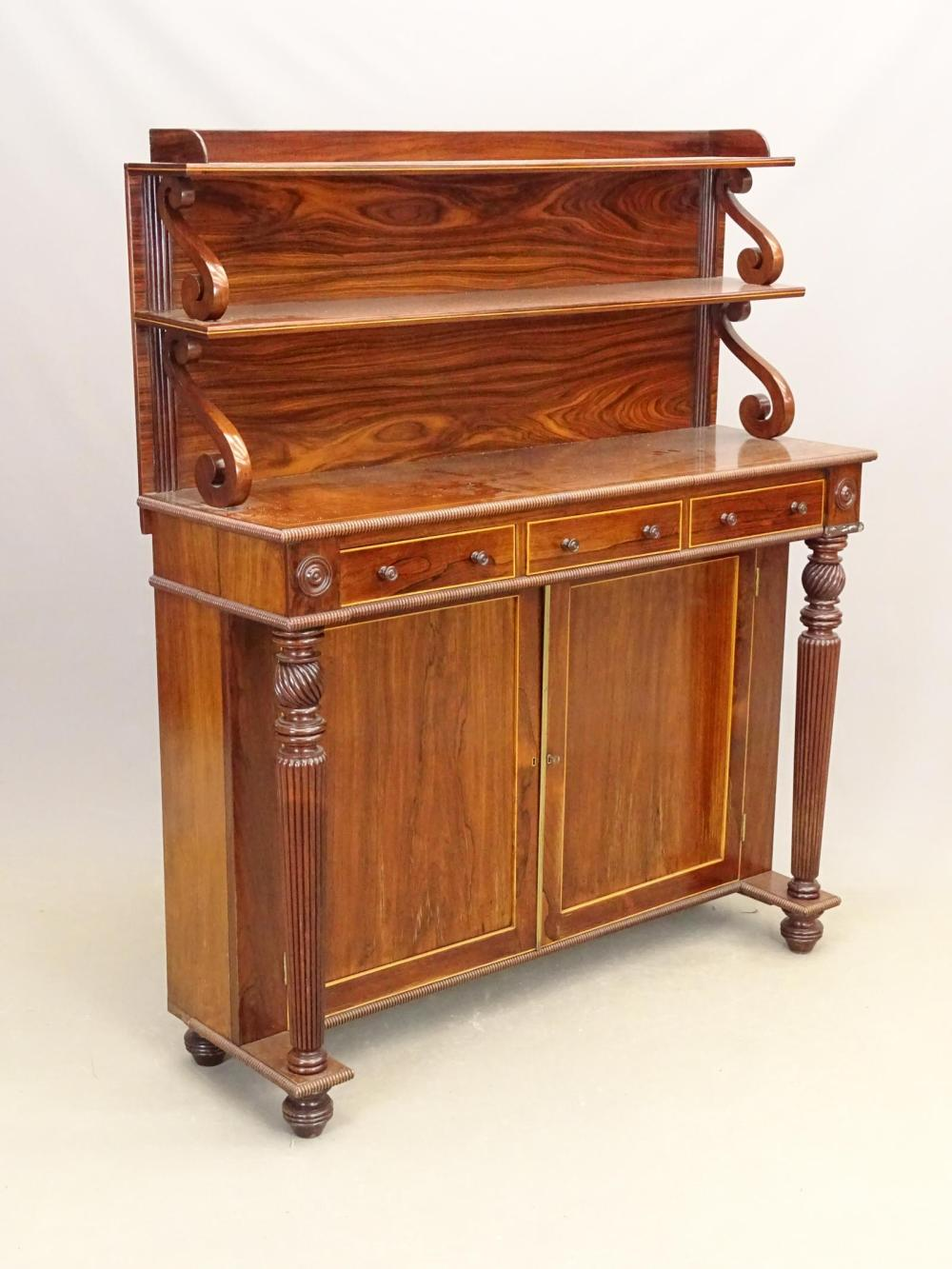 19th c. Rosewood Wall Cabinet