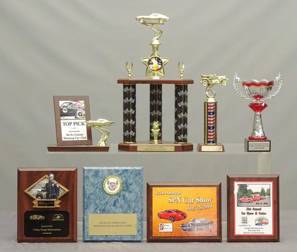 Car Trophy & Plaque Lot