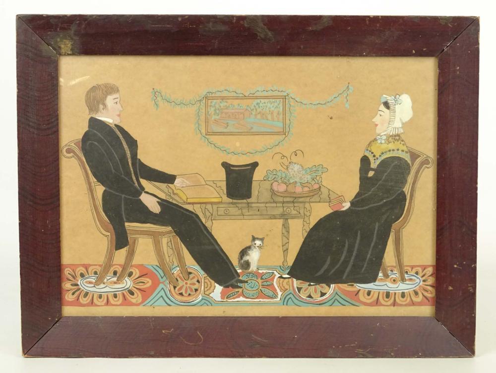 20th Century Folk Art Watercolor