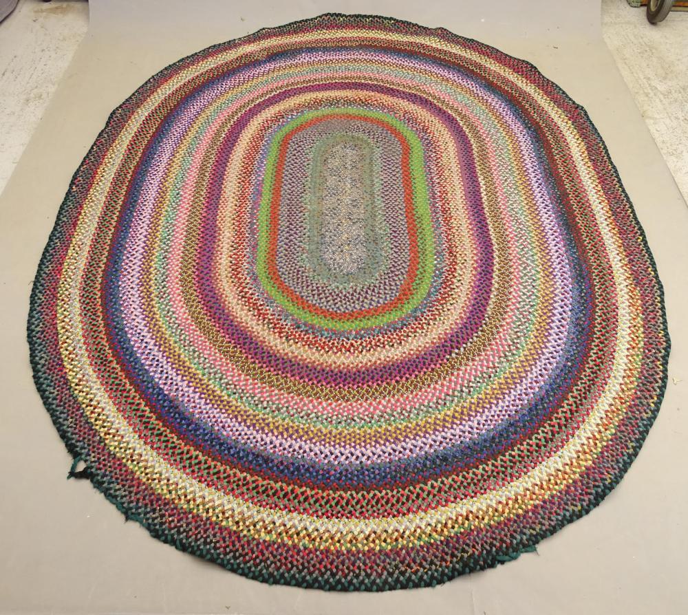 Vintage Braided Wool Rug