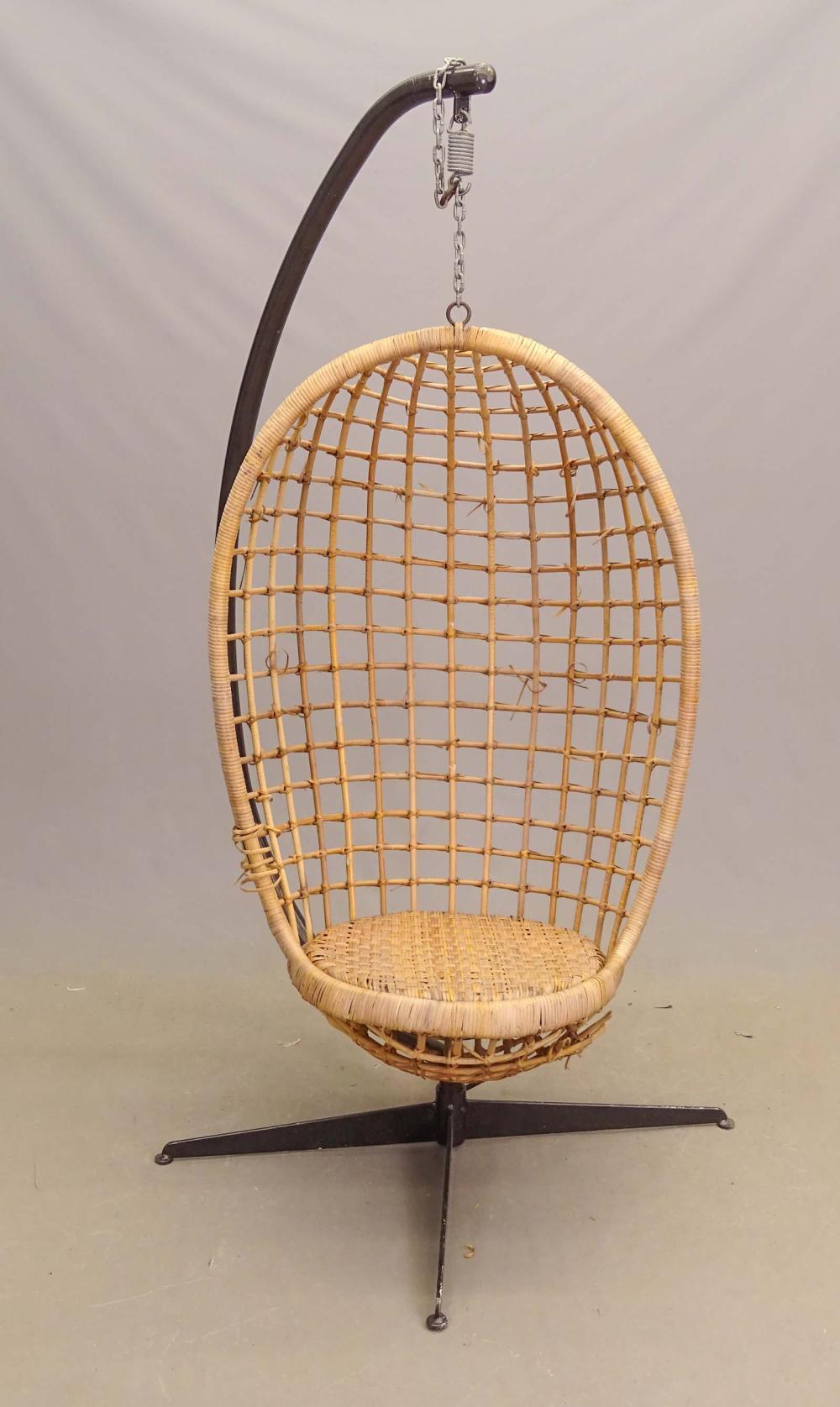 Vintage Rattan Egg Chair