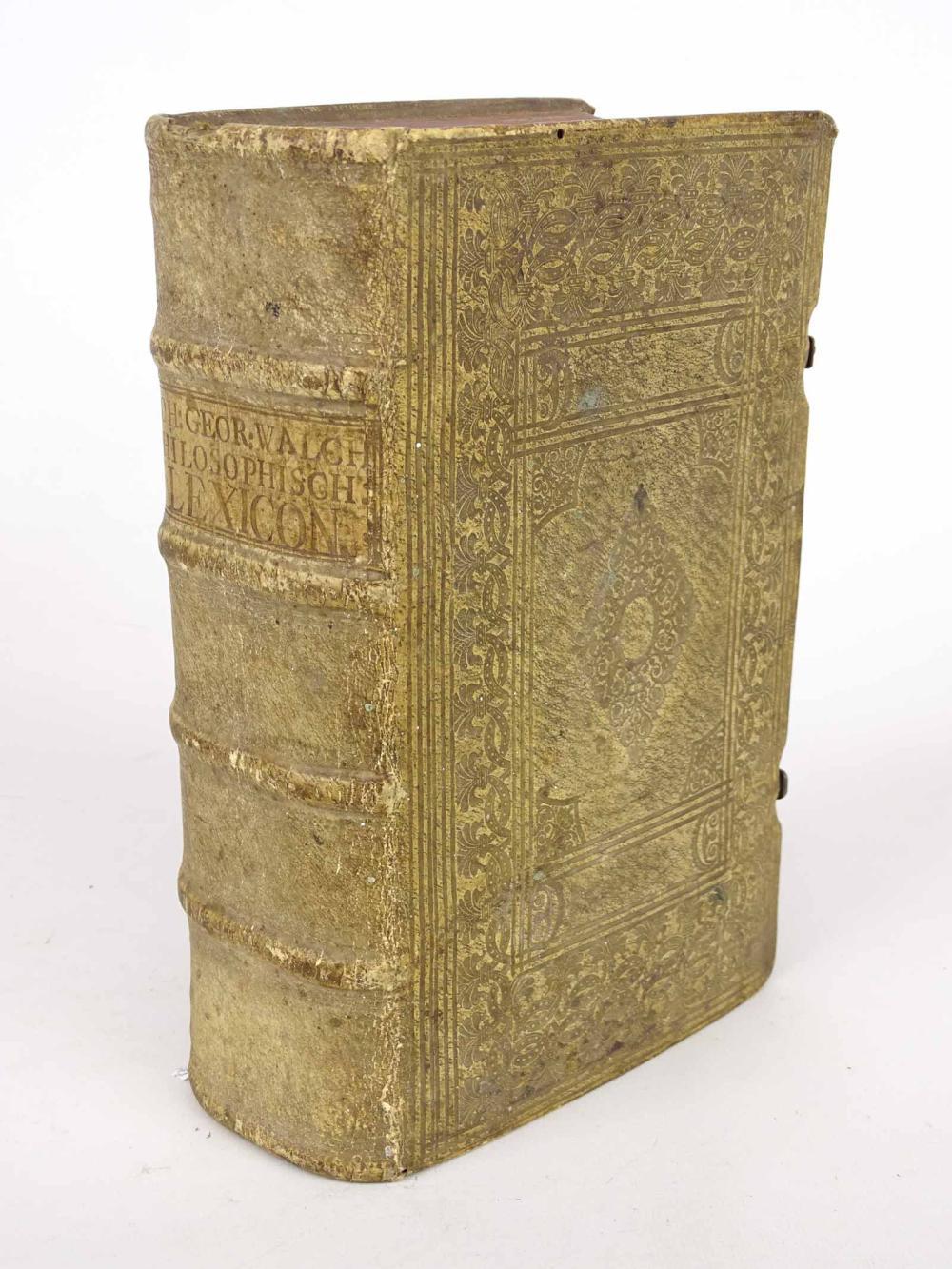 Book: JOH: GEOR: WALCH PHILOSOPHISCH LEXICON