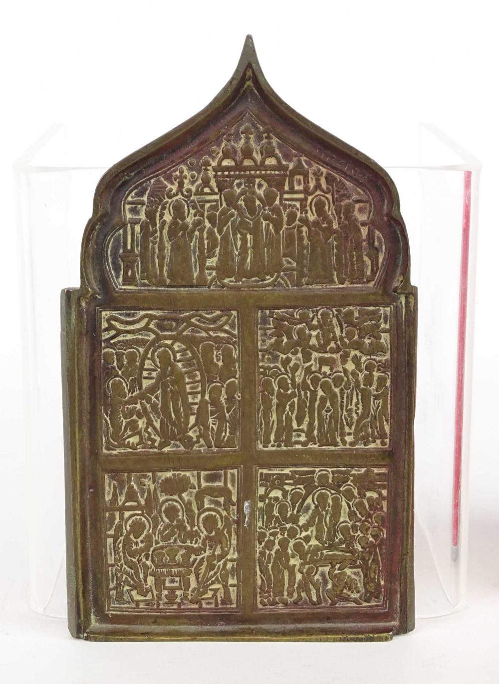 Early Bronze Russian Icon
