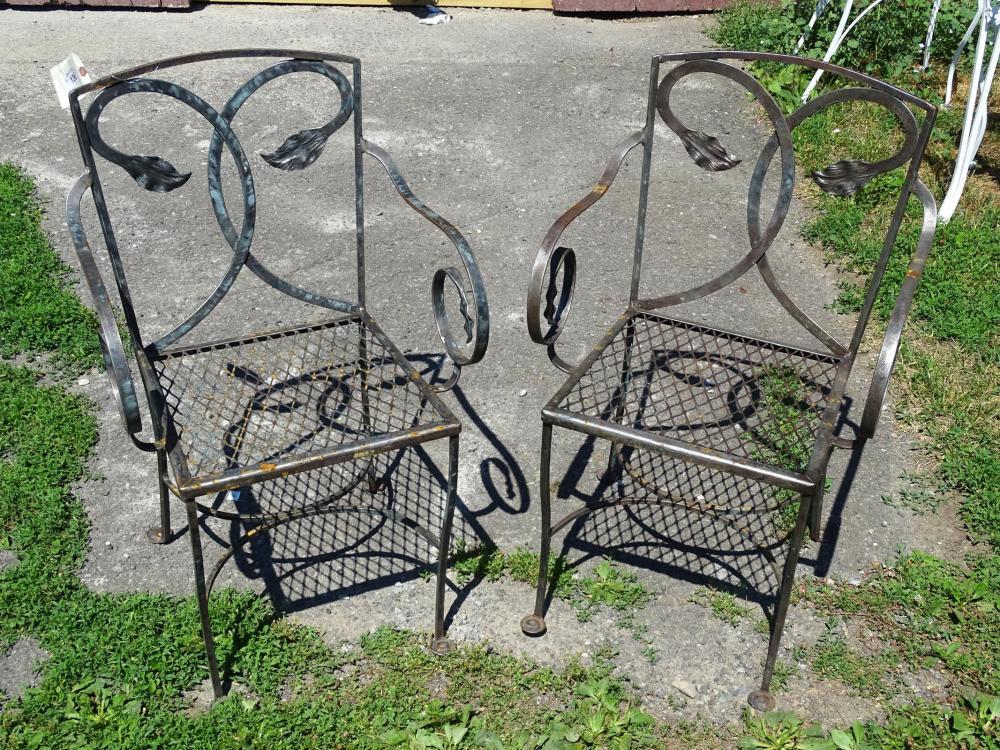 Pair Decorative Patio Chairs